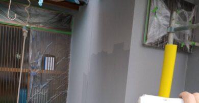 奈良香芝市F様 外壁塗装工事 養生