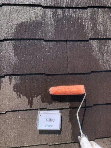 奈良香芝市T様邸 外壁塗装・屋根塗装・防水工事 外壁塗装下塗り
