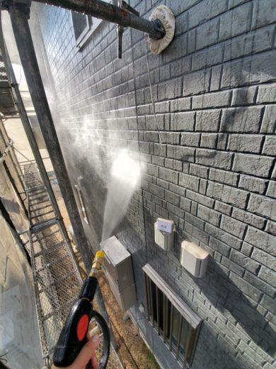 奈良生駒市N様 外壁塗装・防水工事 高圧洗浄