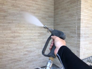 奈良大和郡山市N様邸 外壁塗装・ベランダ防水工事 高圧洗浄