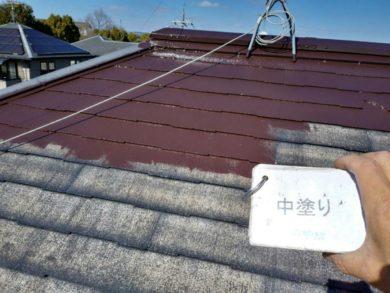 奈良香芝市S様 外壁塗装・屋根塗装 屋根塗装 中塗り