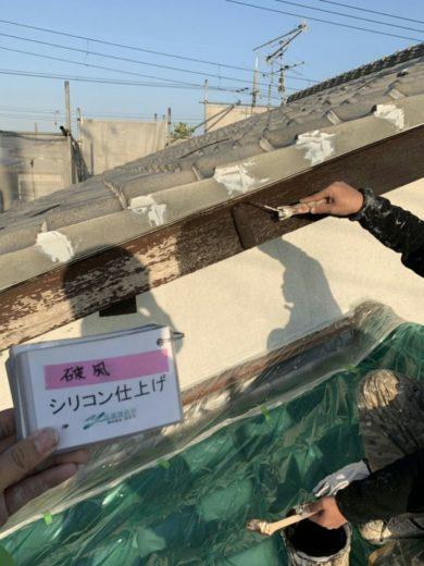 奈良生駒市H様邸 外壁塗装 破風シリコン仕上げ