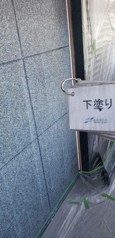 奈良香芝市Y様 外壁塗装・屋根塗装・防水工事 外壁塗装 下塗り