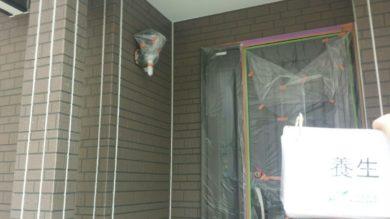 奈良香芝市K様 外壁塗装・屋根塗装・ベランダ防水工事 養生