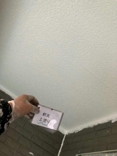 奈良橿原市K様 外壁塗装・屋根塗装・ベランダ防水工事 軒天上塗り