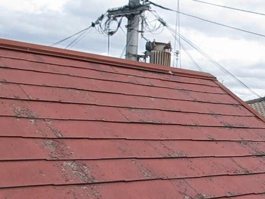 奈良北葛城郡王寺町H様 屋根塗装工事 施工前の写真