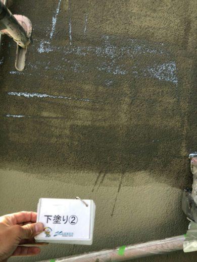 奈良北葛城郡河合町Y様 外壁塗装・その他の工事 外壁塗装下塗り2回目