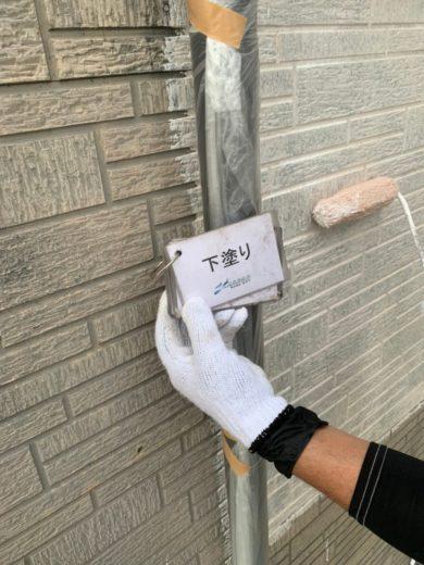 奈良宇陀市H様 外壁塗装・屋根塗装・防水工事 外壁塗装下塗り