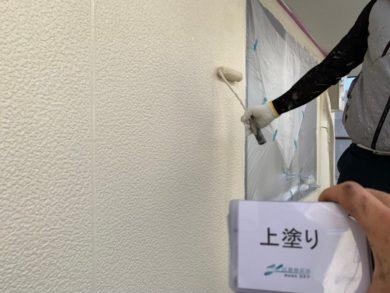 奈良生駒郡平群町K様邸 外壁塗装・屋根塗装 外壁塗装上塗り