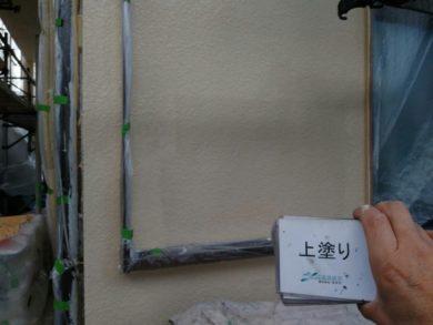 奈良・北葛城郡王寺町K様 外壁塗装・屋根塗装 上塗り