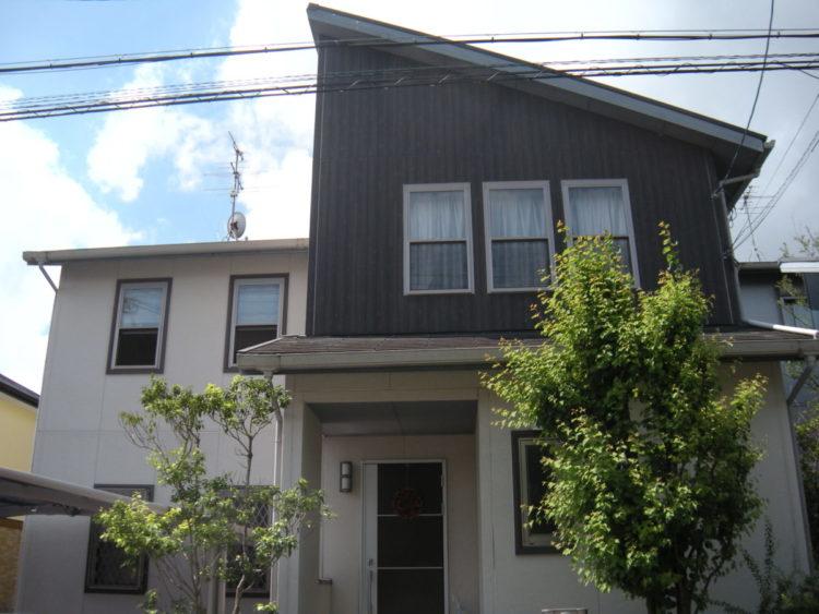奈良香芝市H様邸 外壁塗装・屋根塗装・防水工事」 施工前の写真