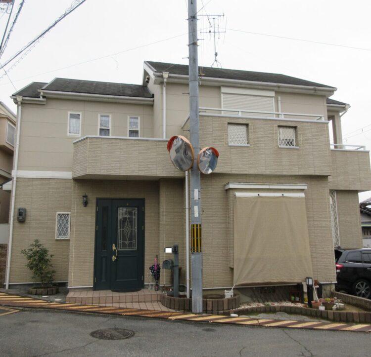 奈良香芝市K様邸 外壁塗装・屋根塗装・防水工事 施工前の写真