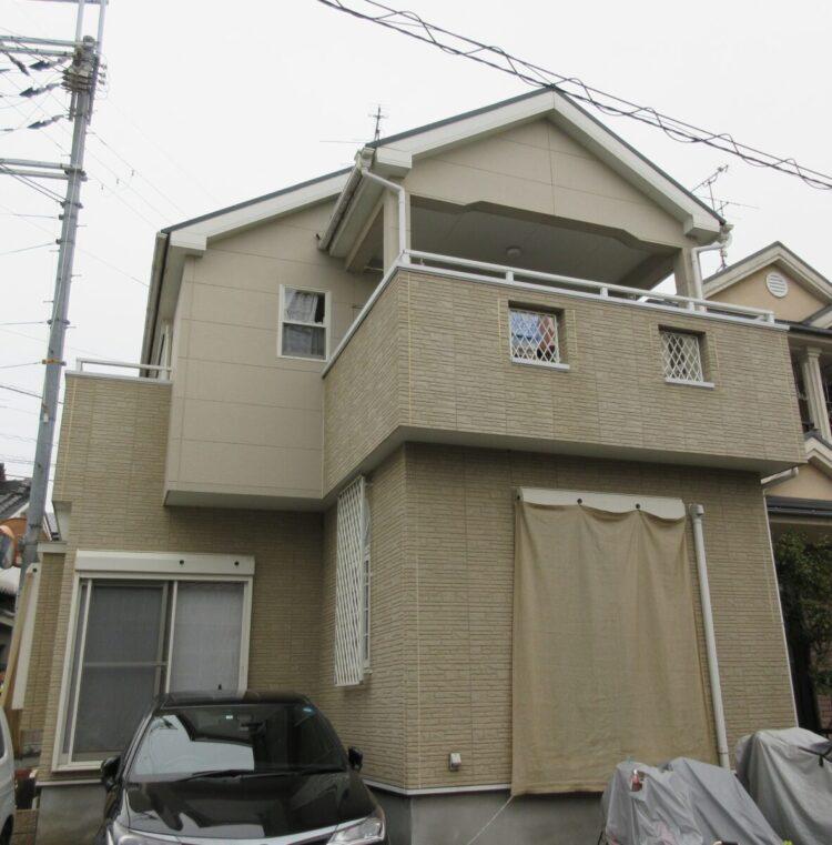 奈良香芝市K様 外壁塗装・屋根塗装・防水工事 施工前の写真