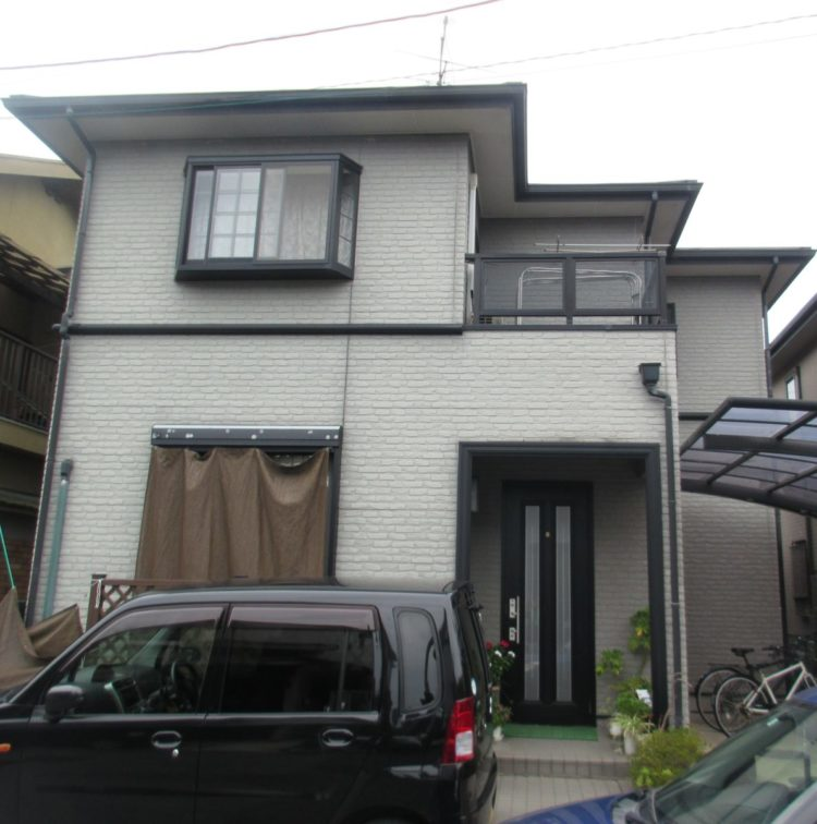 奈良橿原市K様 外壁塗装・屋根塗装・ベランダ防水工事 施工前の写真