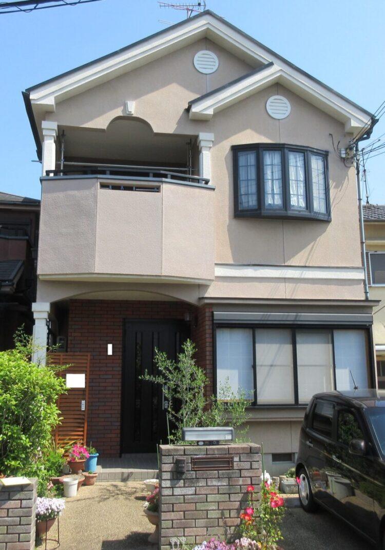 奈良香芝市Y様 外壁塗装・屋根塗装・防水工事 施工前の写真
