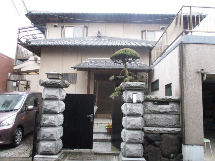 奈良香芝市F様 外壁塗装・外塀塗装 施工前の写真