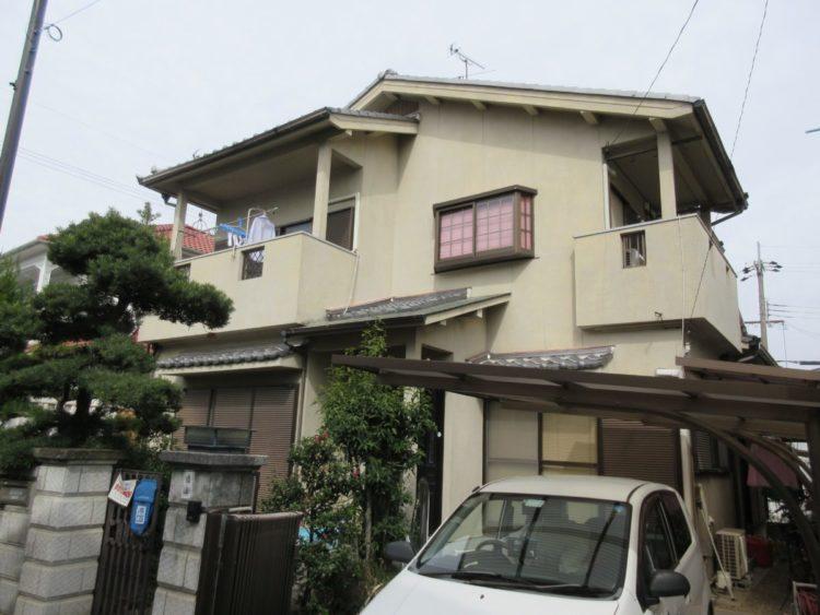 奈良県香芝市T様邸、外壁塗装工事 施工前の写真