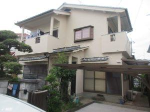 奈良県香芝市T様邸、外壁塗装工事
