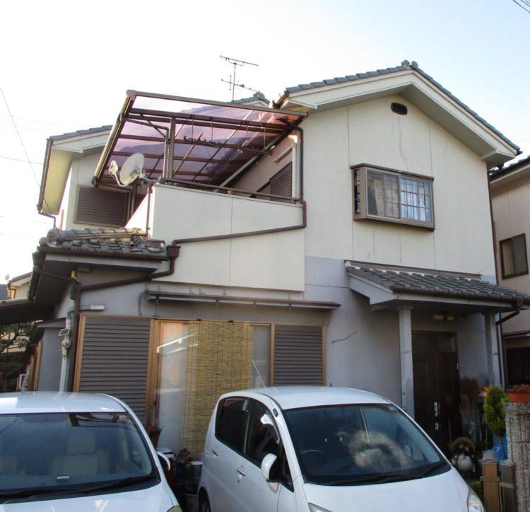 奈良香芝市M様 外壁塗装工事 施工前の写真