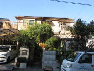 奈良・北葛城郡王寺町K様 外壁塗装・屋根塗装 施工前の写真
