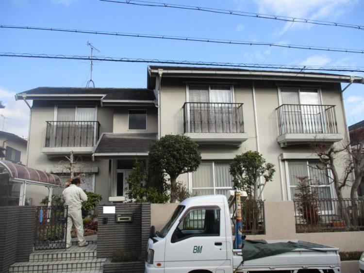 奈良香芝市M様 外壁塗装・屋根カバー工法 施工前の写真