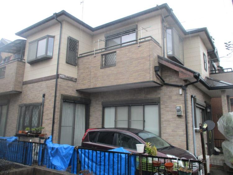 奈良香芝市O様 外壁塗装・屋根塗装・防水工事 施工前の写真