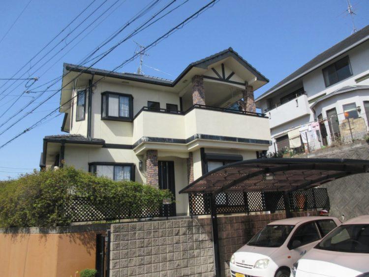 奈良香芝市H様 外壁塗装・外塀塗装工事 施工前の写真