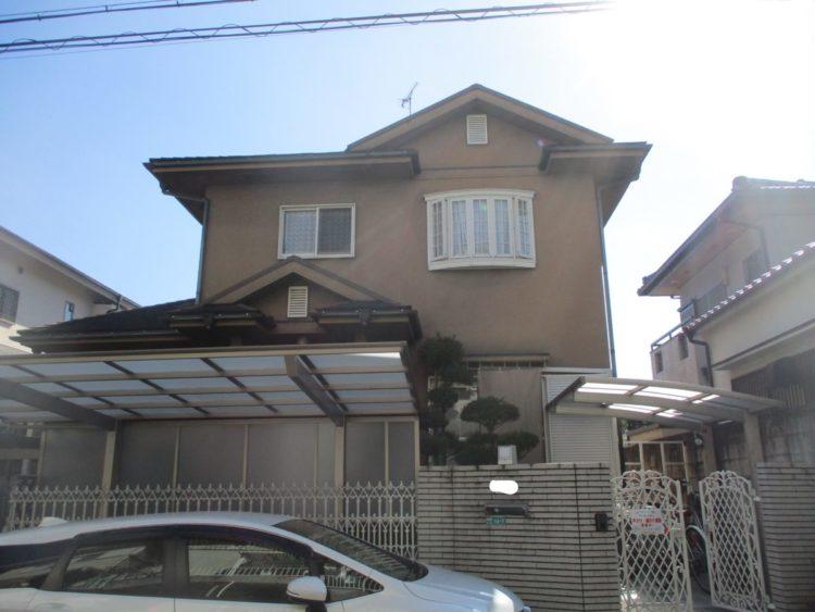 奈良・生駒郡三郷町M様 外壁塗装・屋根塗装 施工前の写真
