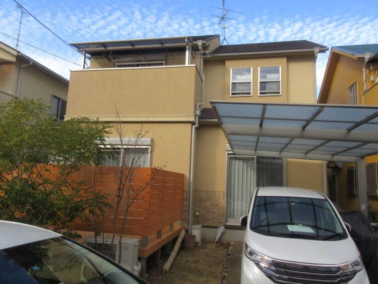 奈良香芝市T様邸 外壁塗装・屋根塗装・防水工事 施工前の写真