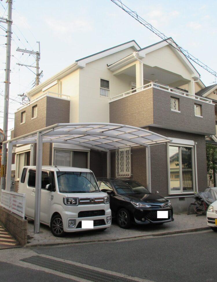 奈良香芝市K様 外壁塗装・屋根塗装・防水工事 施工後の写真