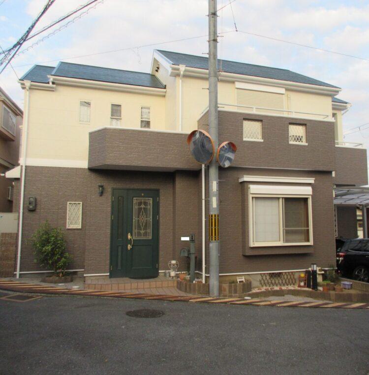 奈良香芝市K様邸 外壁塗装・屋根塗装・防水工事 施工後の写真