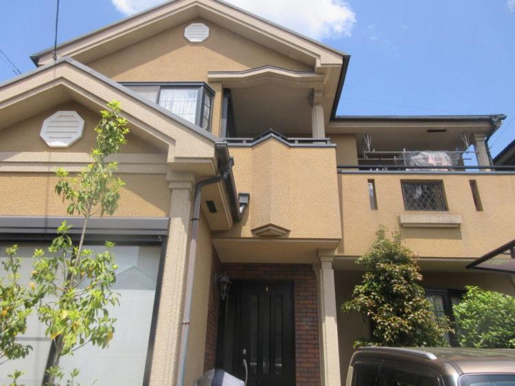 奈良香芝市U様 外壁塗装・屋根塗装工事 施工前の写真