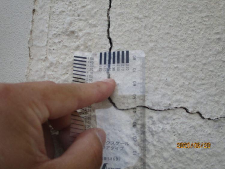 奈良の香芝市の株式会社ヨネヤの外壁塗装と屋根塗装のひび割れ