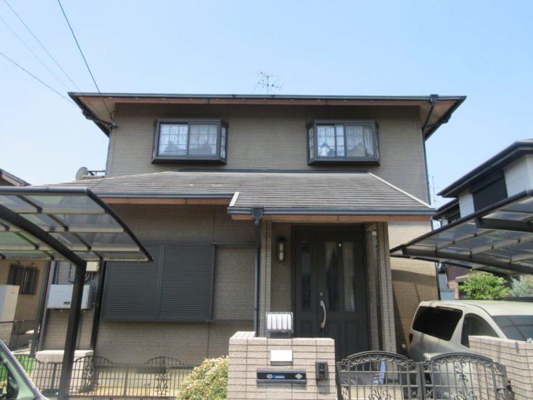 奈良北葛城郡上牧町H様 外壁塗装・屋根塗装・ベランダ防水工事 施工前の写真