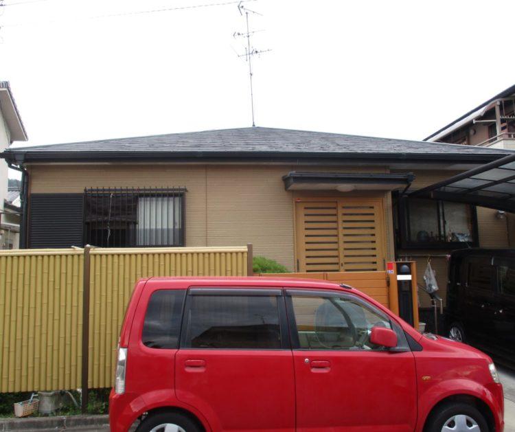 奈良香芝市I様邸 屋根塗装工事 施工前の写真