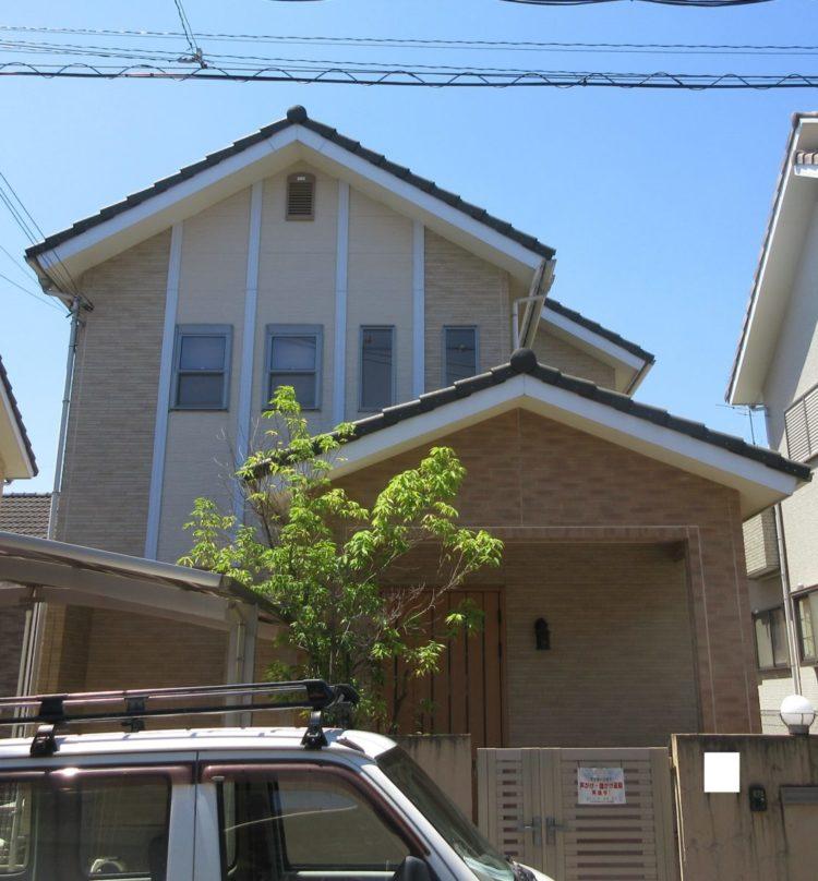 奈良大和郡山市N様邸 外壁塗装・ベランダ防水工事 施工前の写真
