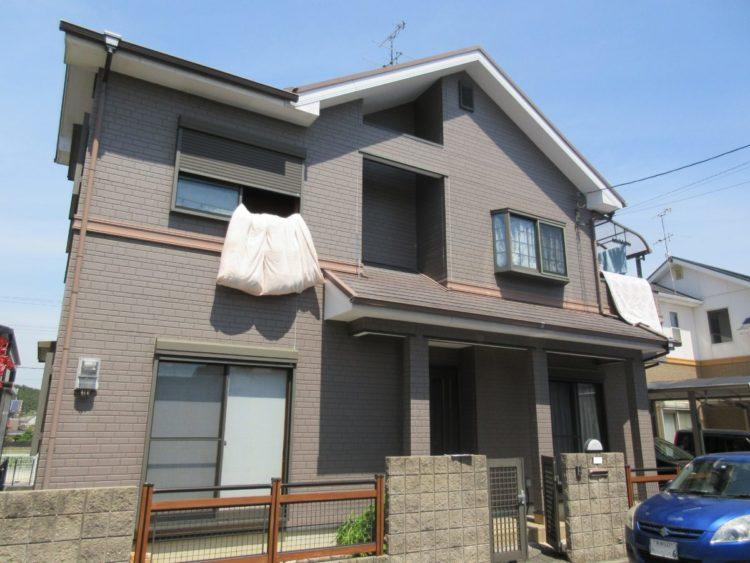 奈良香芝市K様 外壁塗装・屋根塗装・ベランダ防水工事 施工前の写真