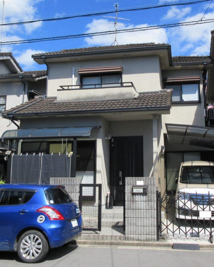 奈良大和高田市O様邸 外壁塗装・屋根塗装・防水工事 施工前の写真