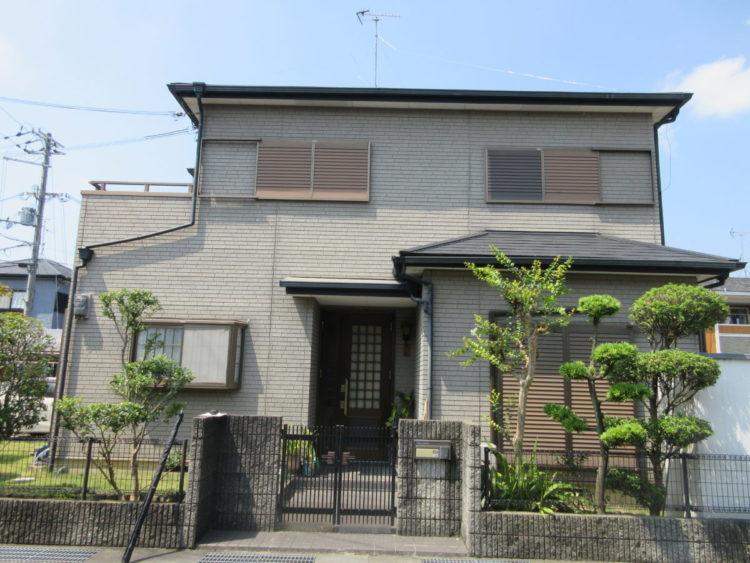 奈良香芝市I様 外壁塗装工事 施工前の写真