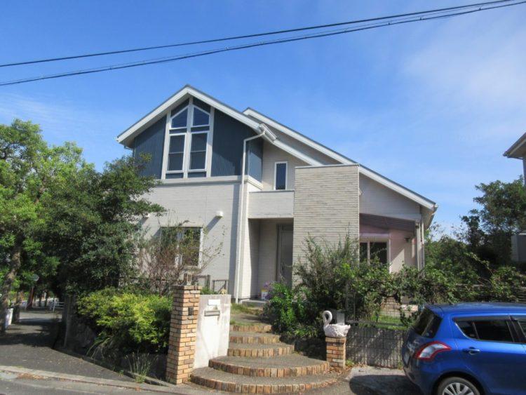 奈良生駒市M様邸 外壁塗装・屋根塗装・外塀塗装・防水工事 施工前の写真