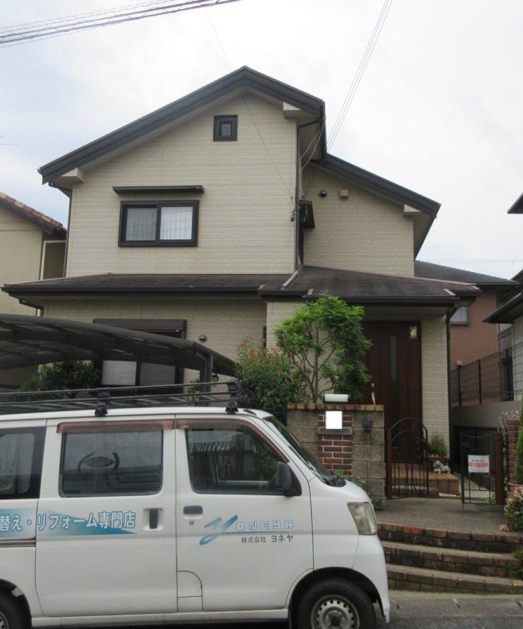 奈良香芝市N様 外壁塗装・屋根塗装・防水工事 施工前の写真
