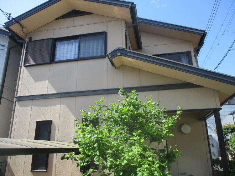奈良県生駒郡斑鳩町H様 外壁塗装・屋根塗装 施工前の写真