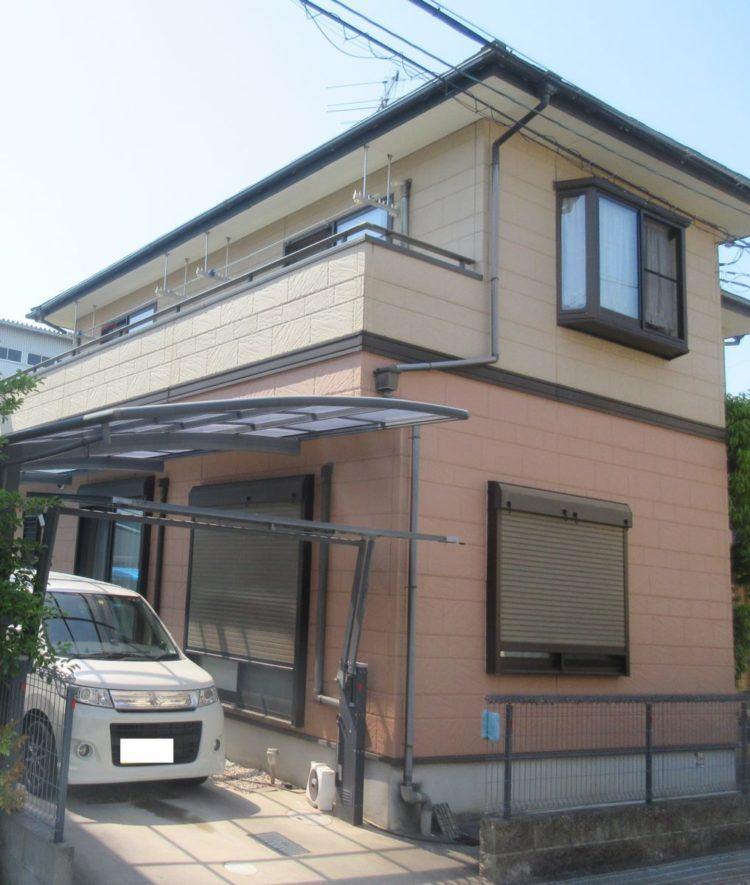 奈良天理市N様邸 外壁塗装・屋根塗装・ベランダ防水工事 施工前の写真
