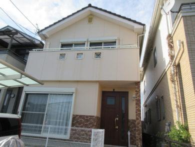奈良県生駒市斑鳩町K様邸 外壁・屋根塗装工事 施工前の写真