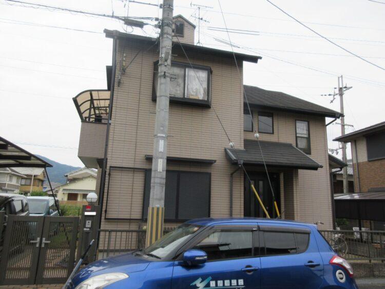 奈良生駒郡平群町M様邸 外壁塗装・屋根塗装・防水工事 施工前の写真
