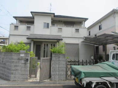 奈良 葛城市 T様邸 外壁・屋根塗装工事 施工前の写真