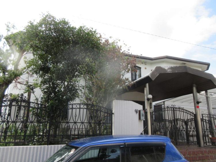 奈良香芝市K様邸 外壁塗装・防水工事 施工前の写真
