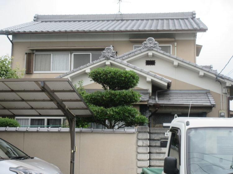 奈良大和高田市U様 外壁塗装工事 施工前の写真