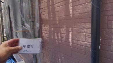 奈良香芝市O様 外壁塗装・屋根塗装・防水工事 外壁塗装 中塗り