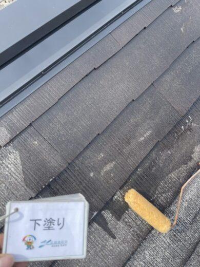 奈良生駒郡三郷町I様 外壁塗装・屋根塗装 屋根下塗り